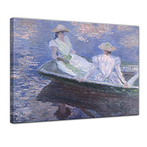 - LVLUOYE Wall Art Canvas Decor - Canvas Wall Painting - Copy Famous Old Master Oil Painting - Hand Painted Mural - Living Room Stretched Canvas - Claude Monet Young Girl in a Boat,50x40cm