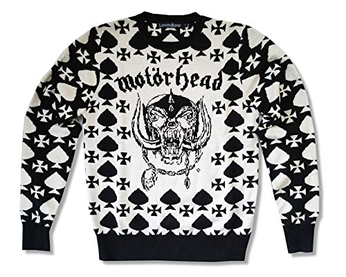 Motorhead Christmas - Spades warpig B&W Ugly Xmas Christmas Sweater (M)