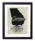 Georgia Home Grown Upcycled Vintage Dictionary Art Print 8x10