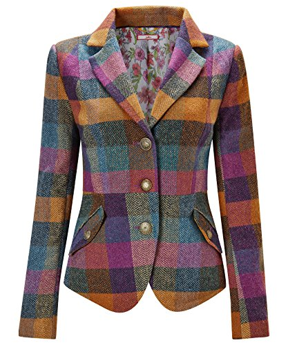 Joe Browns Womens Button Up Check Jacket multicolored 12