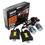 AUBIG 55W Beam Xenon Headlamp Conversion Kit H8 H9 H11 10000K Slim HID Xenon Ballast Light Headlight