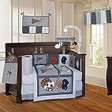 BabyFad Sports Champion Grey 10 Piece Crib Bedding Set