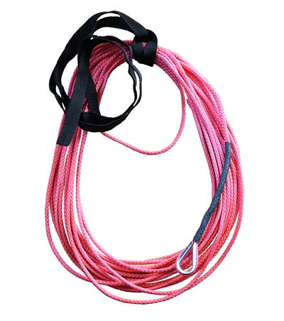 (Red AmSteel Blue 3/16 x 50 Foot ATV Winch Rope)