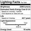 Luxrite U Bend LED Tube Light, T8 T12, 18W (32W Equivalent), 5000K Bright White, 2200 Lumens, Fluorescent Light Tube Replacement, Direct or Ballast Bypass, DLC and ETL Listed, G13 Base (6 Pack)