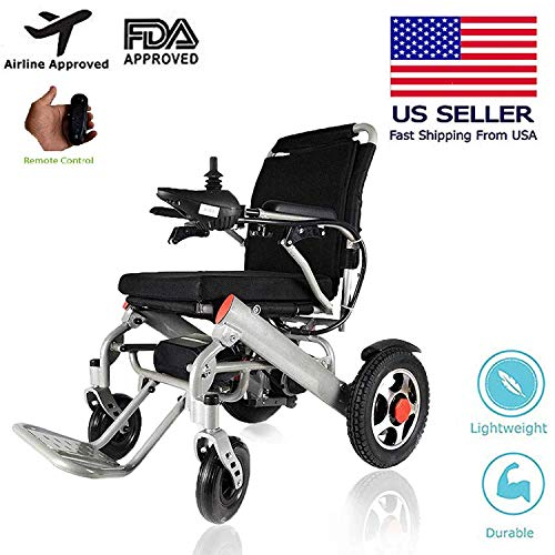 Lightweight Wheelchairs for Adults, Electric Folding Carry Power Chair