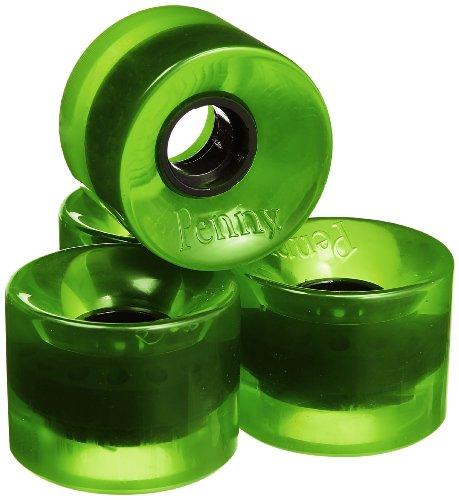 架空の摩擦セットするPenny Green-Transparent 59mm Wheel (set of 4)