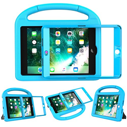 LEDNICEKER Kids Case for iPad Mini 1 2 3 - Built-in Screen Protector Light Weight Shock Proof Handle Friendly Convertible Stand Kids Case for iPad Mini, iPad Mini 3, iPad Mini 2 - Blue by LEDNICEKER