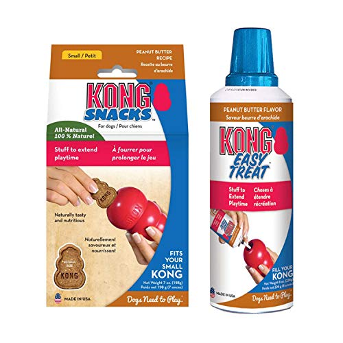 KONG - Peanut Butter Treats Combo Pack - Easy Treat Paste and Dog Snacks - for Small Dogs