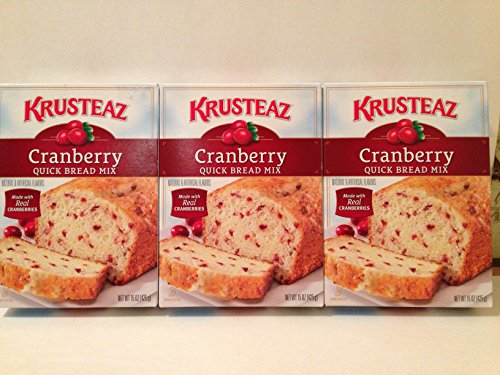 Blueberry Quick Bread - Krusteaz Cranberry Quick Bread Mix 15 OZ (Pack of 3)