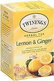 Twinings Herbal Tea, Lemon & Ginger, 20 Teabag Box (Pack of 6)