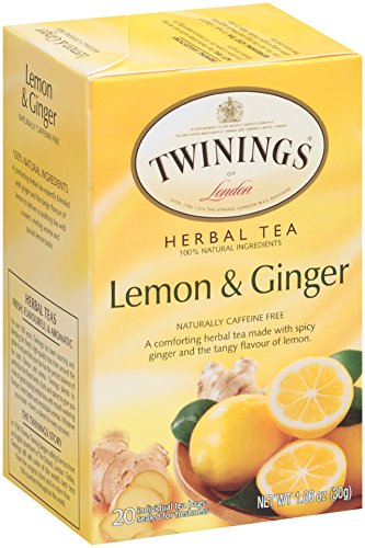 Twinings Herbal Tea, Lemon & Ginger, 20 Teabag Box (Pack of 6)