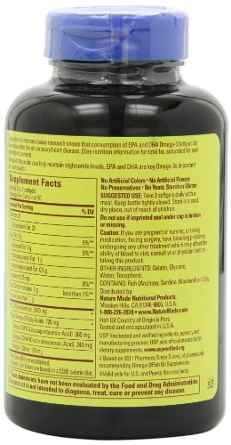 031604013288 - Nature Made Fish Oil Omega-3, 1200mg, 100 Softgels carousel main 4