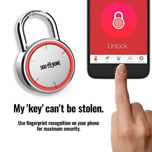 Dog /& Bone Keyless Bluetooth Padlock Wireless NEW UNOPENED Lock Phone Smartphone