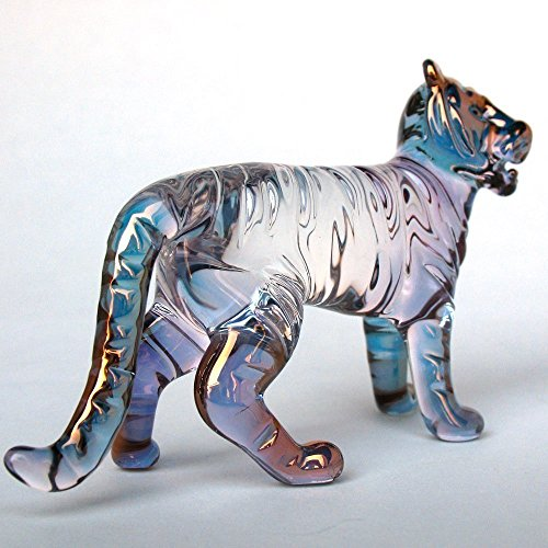 Tiger Figurine of Hand Blown Glass