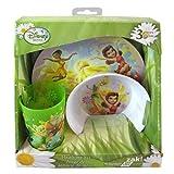 Disney Fairies Tinkerbell 3pc Dinnerware Gift Set - Bowl, Cup, Plate