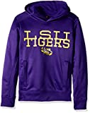 NCAA LSU Tigers Youth Boys Overlap Performance Hoodie, Purple, Youth X-Large(18)