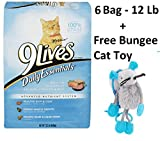 9Lives Daily Essentials Dry Cat Food, 12 lb Bag (6 Bag + Free Toy)