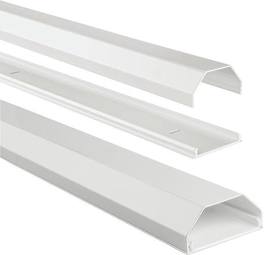9 opinioni per Marke, Canalina per cavi in alluminio, squadrata, 110 x 5 x 2,6 cm, Bianco