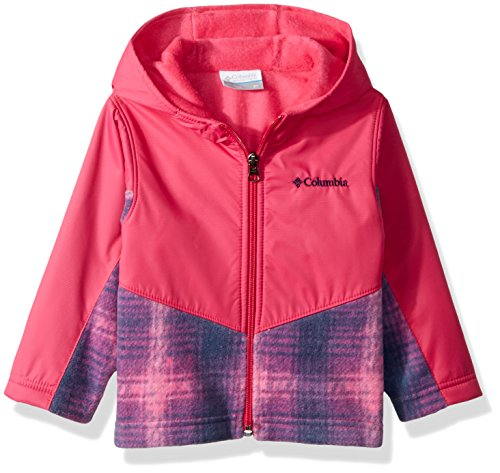 Columbia Kids & Baby Toddler Kids Steens Mt Overlay Hoodie, Cactus Pink Twill Plaid, 2T ()