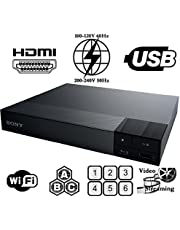 Sony BDP-S3500 Region Free DVD and Zone ABC Blu Ray Player with 100-240 Volt, 50/60 Hz, Free 6' HDMI Cable and US- European Adapter