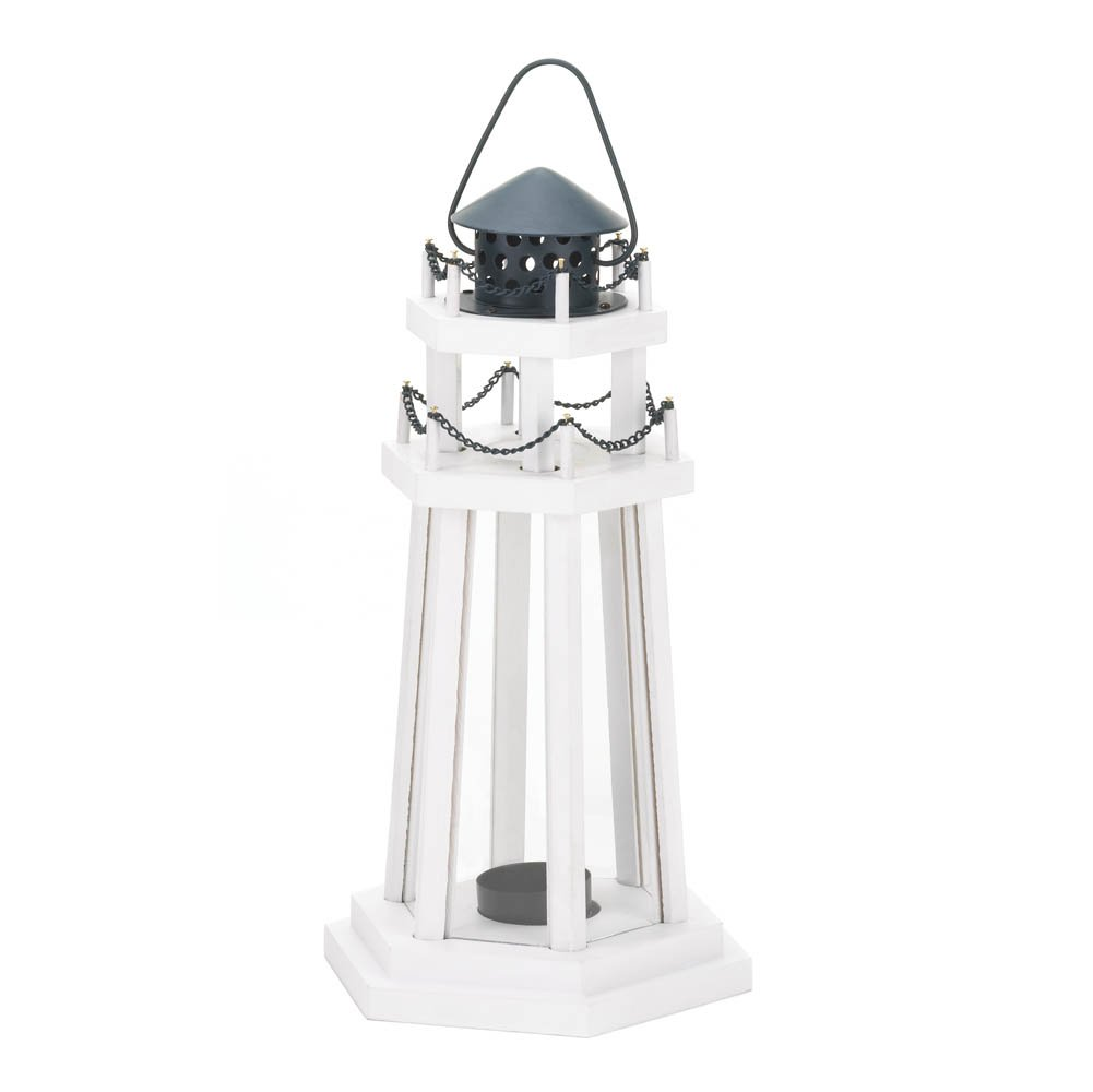 Amazon.com: 1 X Nautical Light Decorative Clear Glass Wooden ...