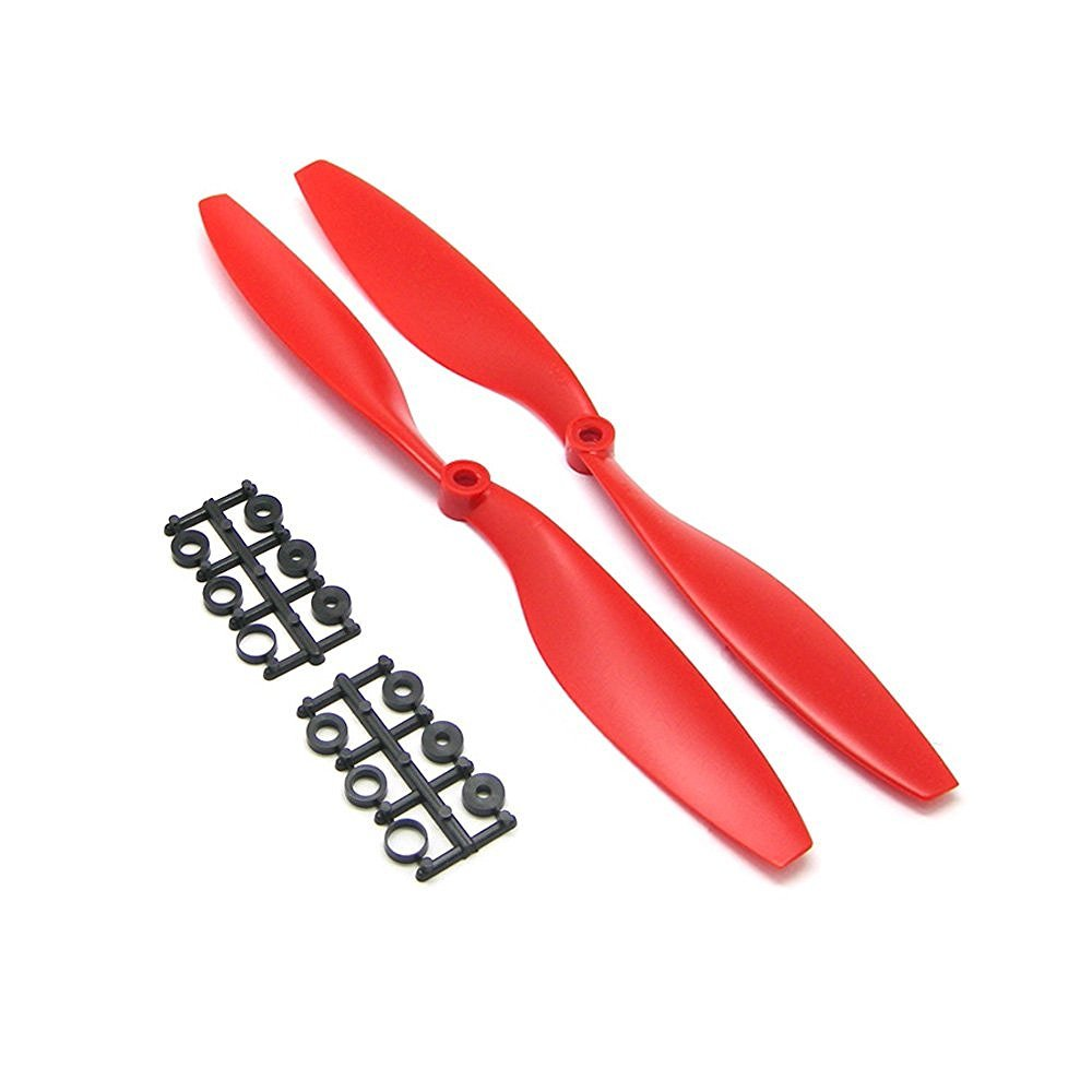 RAYCorp 1045 10x4.5 Propellers 1 battery strap 16 Pieces Black /& Red 10-inch Quadcopter or F450 Props 8 CW, 8 CCW