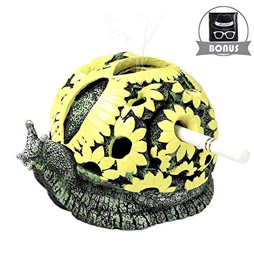 Monsiter Snail Ashtrays for Cigarettes Creative Ashtray for Home and Outdoor from Monsiter