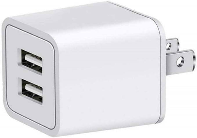 Amazon.com: Cargador, adaptador de 2.4 A Universal Dual de ...