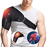 Heated Shoulder Brace Support Wrap, 3 Heat Settings, Heating Pad Support Brace for Rotator Cuff, Joint Capsule & Biceps Tendon Injury, Frozen Shoulder, Shoulder Dislocation or Muscles Pain Relief
