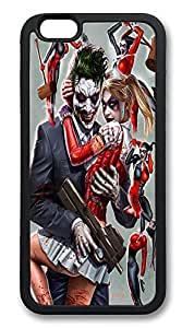 iPhone 6 Cases, Joker and Harley Quinn Durable Soft Slim TPU Case Cover for iPhone 6 4.7 inch Screen (Does NOT fit iPhone 5 5S 5C 4 4s or iPhone 6 Plus 5.5 inch screen) - TPU Black