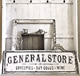 MarthaFox General Store Sign Grocery Dry Goods Wine authentically Aged Appearance Vintage Inspired Antique Inspired