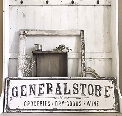 - MarthaFox General Store Sign Grocery Dry Goods Wine authentically Aged Appearance Vintage Inspired Antique Inspired