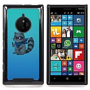 Funny Raccoon Thief Ninja Caja protectora de pl??stico duro Dise?¡Àado King Case For Nokia Lumia 830