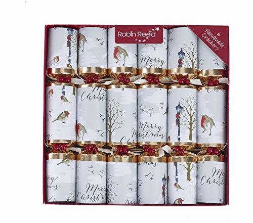 Christmas Robin Luxury English Holiday Crackers - Set of (Holiday Luxury Set)