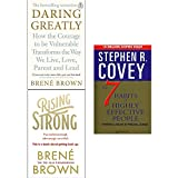 img - for Daring greatly, rising strong and 7 habits of highly effective people 3 books collection set book / textbook / text book