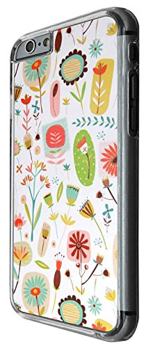 1412 - Cool Fun Trendy cute kwaii wallpaper shabby chis flowers retro Design iphone 5C Coque Fashion Trend Case Coque Protection Cover plastique et métal - Clear