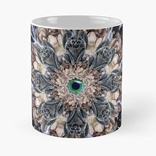 Bloody Mandala Grave Halloween Funny Floral Coffee Mugs Gifts -