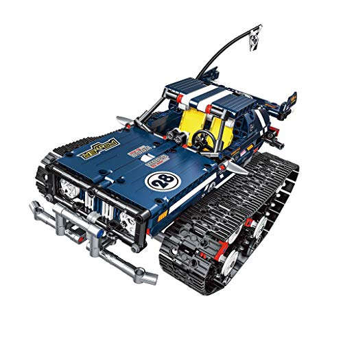 1:18 DIY Assemble RC Cars Alloy 2.4G Radio Control Brick Tank Toys Gift