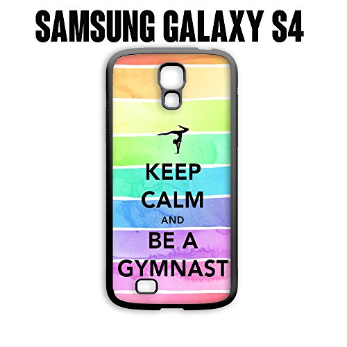 Phone Case Hipster Keep Calm Be A Gymnastics Gymnast Love for Samsung Galaxy S4 Plastic Black