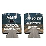 "VictoryStore Can and Beverage Coolers: Neoprene Customizable ""And So The Adventure Begins"" Graduation Can Coolers (250)"