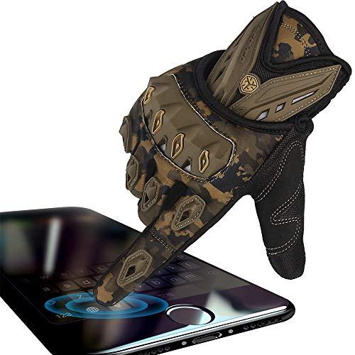 - SCOYCO Camo Green Ventilate Wear-resistant Knuckle Protective Tactical Gloves (CAMO,L)