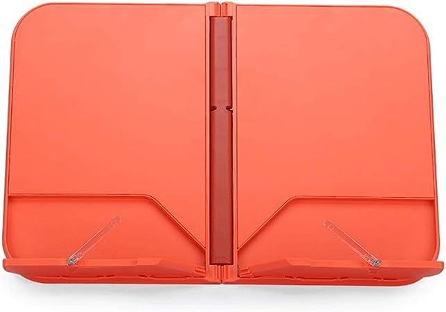 Soporte de libro Soporte para libros Libro Soporte para lectura Ajustable BookStand Sujeción para libro de música Libro de cocina Soporte de libro Atril Para Libros (Color : Orange) : Amazon.es: Hogar