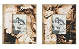 MDF Photo Frame Picture Holder W/ Angel Image Distressed Finish SET OF 2 Country Home D