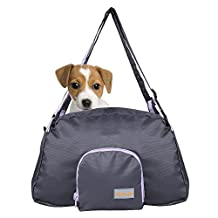 CueCue Pet Carry Bag Small Pouch Patrol Shoulder Dog Carry Bag Trvavel Backpack Carrier for Cat and Small dogs (Gray)