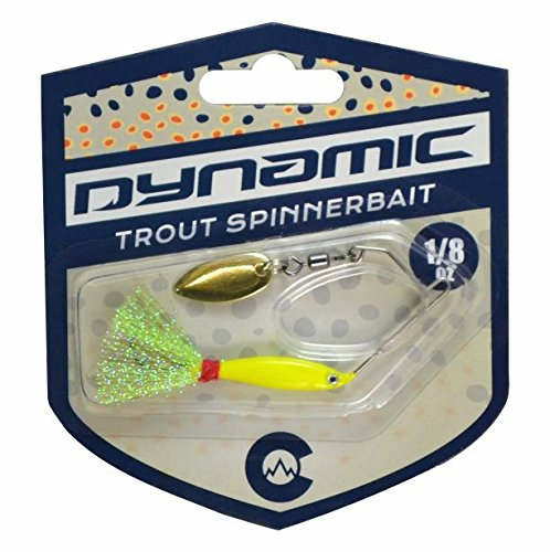 Dynamic Lures Weedless Trout Spinnerbait | For Fishing Bass, Trout, Perch, and Crappie | Count 1 (1 Bass Lure)