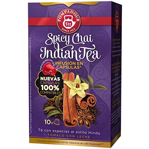 POMPADOUR TEA (Nespresso Original line compatible) - Spicy Chai - 40 count / capsules by Unknown