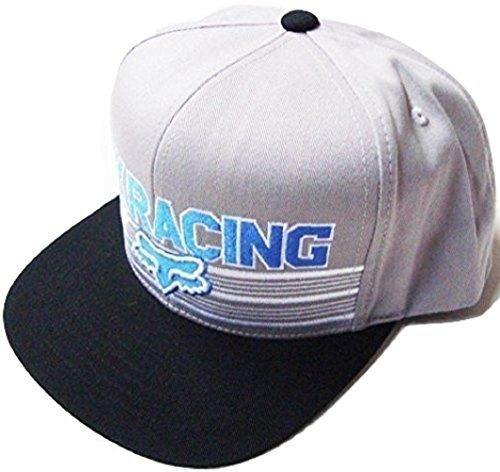 Fox Racing Speed Way Gray/Blue/White Flat Brim Snapback H...