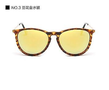 JUNHONGZHANG Gafas De Moda Parejas Reflectantes Gafas De Sol ...
