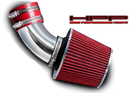 High Performance Parts Short Ram Air Intake Kit & Red Filter Combo Compatible for Toyota 00-03 RAV4 2.0L L4 / 04-05 RAV4 2.4L L4