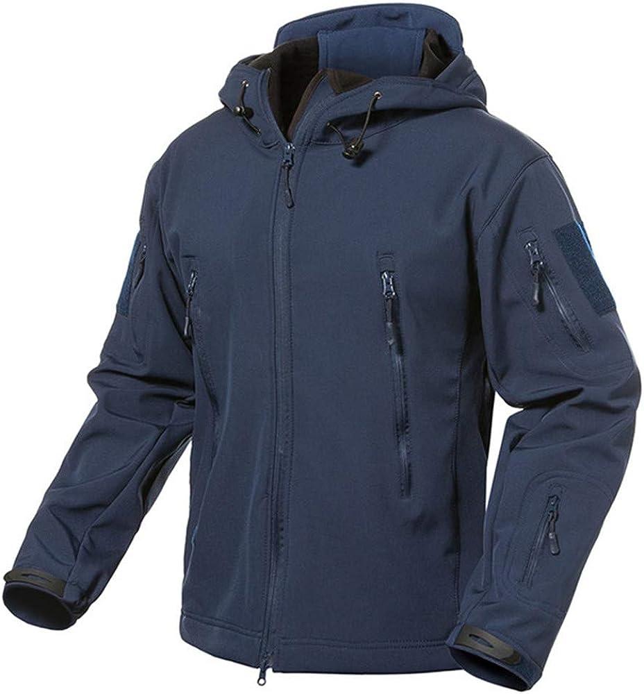 Jacket Men Waterproof Soft Shell Military Windbreaker Jacket Black XS